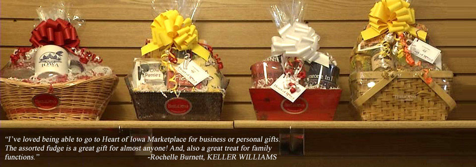 Shop iowa souvenirs corporate gift baskets company gifts heart gift baskets negle Image collections